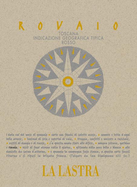 Rovaio IGT Toscana Rosso (Super Tuscan) Etiket | La Lastra | Biowijn.shop